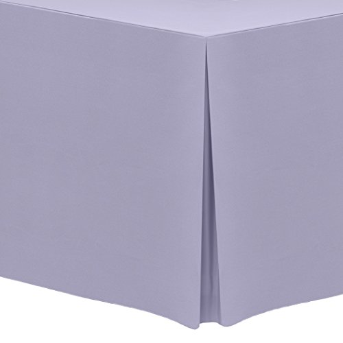 Ultimate Textile (3 Pack) 6 ft. Fitted Polyester Tablecloth - for 30 x 72-Inch Banquet and Folding Rectangular Tables, Lilac Light Purple by Ultimate Textile (Image #1)