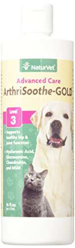 NaturVet ArthriSoothe-GOLD Level 3 Advanced Joint Care for Dogs and Cats, 16 oz Liquid  , Made in USA