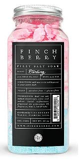 FinchBerry Darling Fizzy Salt Soak 16oz, pack of 1