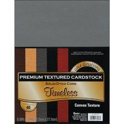 Dinations Cardstock (Bulk Buy: Darice (2-Pack) Corein.dinations Value Pack Cardstock 8.5in. x 11in. 40/Pkg Timeless Textured G x 220029)