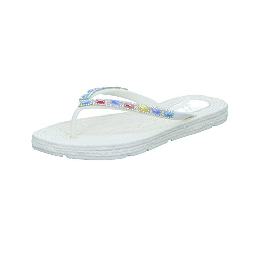 QUICK SCHUH GmbH & Co. KG 1004637 - Sandalias de Caucho para mujer blanco