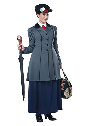 Children Plus Size Costumes - California Costumes Size English Nanny-Adult Plus Women Costume, Gray/Navy,