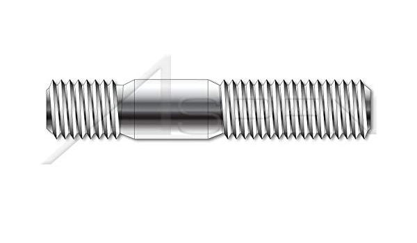 Screw-in End 1.0 X Diameter A4 Stainless Steel M10-1.5 X 60mm DIN 938 Metric Double-Ended Stud with Plain Center 10 pcs