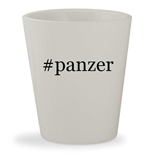 #panzer - White Hashtag Ceramic 1.5oz Shot Glass