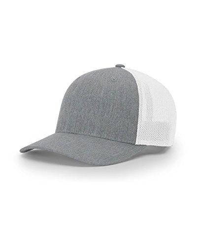 Details about Richardson 112 Heather Grey  White Mesh Back Trucker Cap  Snapback Hat e748299b877