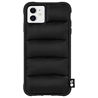 Case-Mate - iPhone 11 Case - Puffer - Soft Touch Puffer Jacket Material - 6.1 - Black