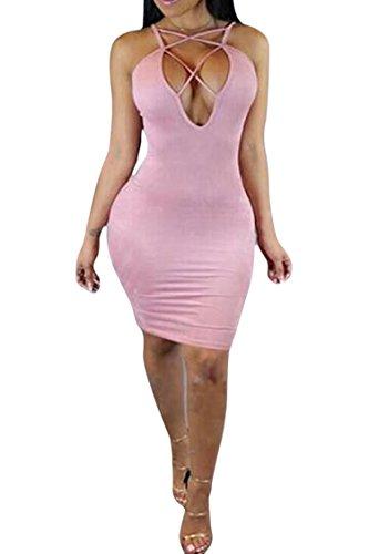 Open Back Sheath Dress - 4