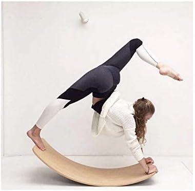 Wooden Balance Board Wobbel Kids Curvy Rocker Board Wooden Yoga Board Spin