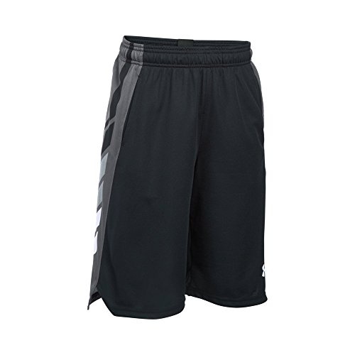 Under Armour Boy's Select Basketball Shorts, Black/White, Youth Medium