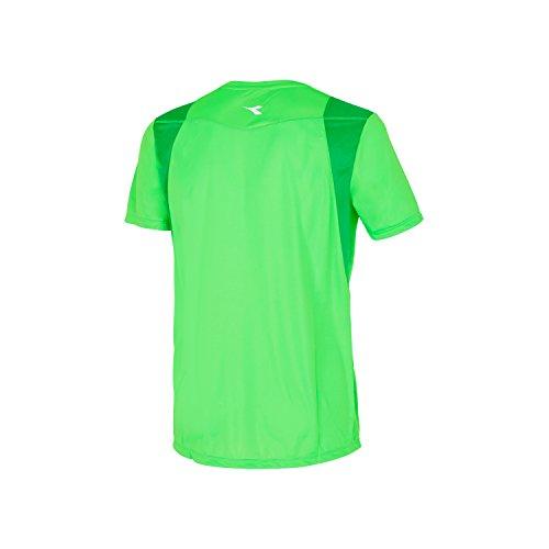 Diadora 102172840 X-Run Short Sleeve Camiseta, Hombre Verde Fluo Special