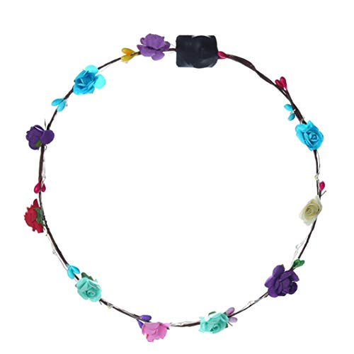 LiPing LED Flower Floral Hairband Garland Crown Garland Headwear Headbands/Handmade Flower Hairband Crown (1PC) ()