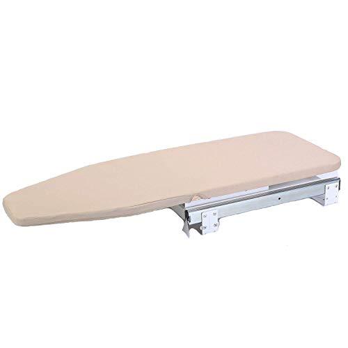 Tcatec Table à repasser en bois pliante et rotative avec coussin rembourré pour rangement peu encombrant dans armoire 82 x 31 cm
