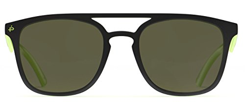 PRIVÉ REVAUX Places We Love Collection''The Zona'' Polarized Handcrafted Designer Square Sunglasses (Olive Green/Gold Mirror) by PRIVÉ REVAUX (Image #7)