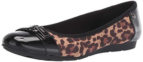 Anne Klein Women's Able Flat Shoe, Leopard, 8 M US ()