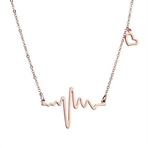 Titanium Heartbeat Necklace Lifeline Valentines