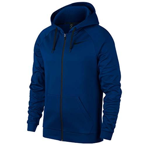 Nike Men's Big and Tall Dri-Fit Therma Full Zip Hoodie (Blue Jay, 3XL)
