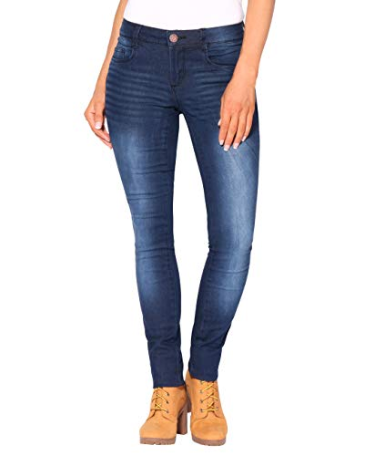 2863 Jeans KRISP Stretch Femme Bleu Fonc Denim 6ywRY8