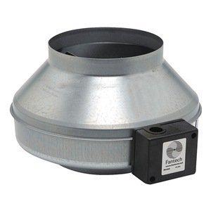Fantech FG 8 Inline Centrifugal Duct Fan, Metal Housing, 8