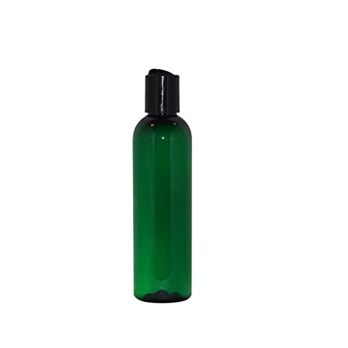 WM (Pack of 24) 4 oz Empty Bottles - Refillable Plastic Container w/Press Disc Cap - PET Plastic Cosmo Bullet Bottle for Travel, Oils, Soap, Shampoo, Lotion, Aromatherapy and More (4 oz, Green)