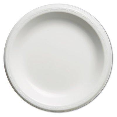 - Genpak LAM093L Elite Laminated Foam Plates, 8.88 Inches, Black, Round, Pack of 125 (Case of 4)