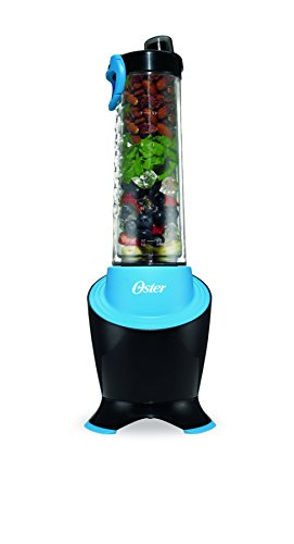 Oster MyBlend Pro Series Personal Blender with Condensation Free Bottle, Travel Clip and 4 Reusable Straws, Red, BLSTPB2-GTL, Grey/Teal (Oster Blender Single Cup)