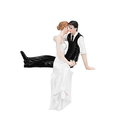 ️ Yu2d ❤️❤️ ️Romantic Bride and Groom Wedding Cake Topper Couple Hug Kiss Bridal -
