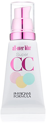 Moisturizer Tinted Paraben Free (Physicians Formula Super CC Color-Correction Plus Care SPF 30 All-Over Blur Cream, Light/Medium, 1 Ounce)