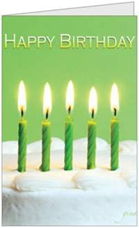 Birthday Humor Quality Funny Candles Greeting Card 5x7 by QuickieCards
