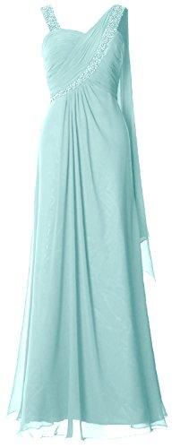 Sweetheart Chiffon Long MACloth Formal Gown Aqua Straps Evening Women Dress Prom wFSYEqS