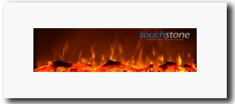 Reference 80002 Ivory Wall Mounted Electric Fireplace, 50 Inch Wide, 1500/750 Watt Heater (Anaemic)