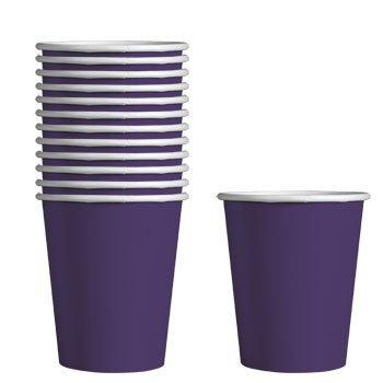 (Party Color Paper Cups Purple 9oz 24 Count)
