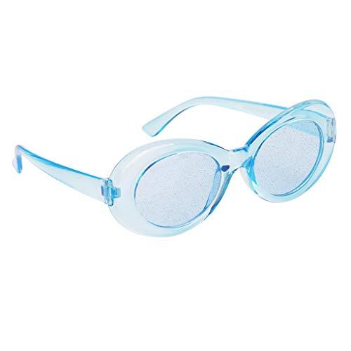 Rétro Lunettes Transparentes Perfeclan Ovales Bleu Protection De Soleil dA11wt