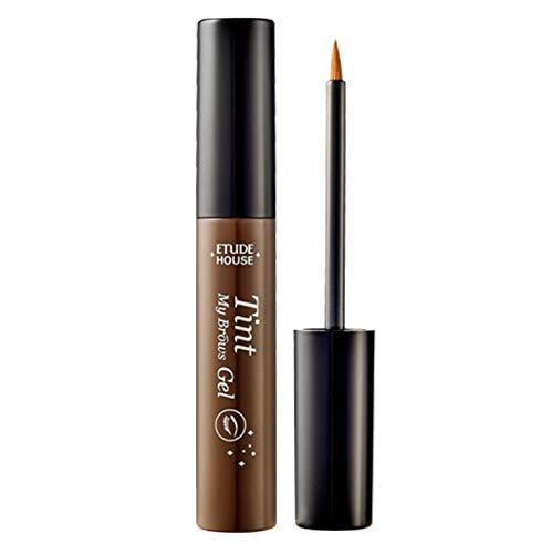 Etude House Tint My Brows Gel Eyebrow Long Lasting Liner, Brown, 0.5 Fluid Ounce