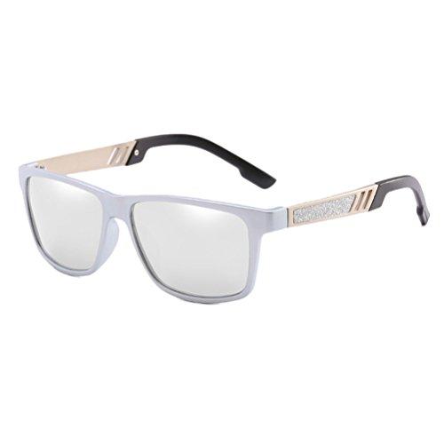 Soleil Des Soleil UV400 des Hommes Mens Zhhlinyuan Pour Polarisé Protection de Lunettes Sunglasses Vacances pour silver Lunettes des Voyageant Conduite en qFnAnpt6