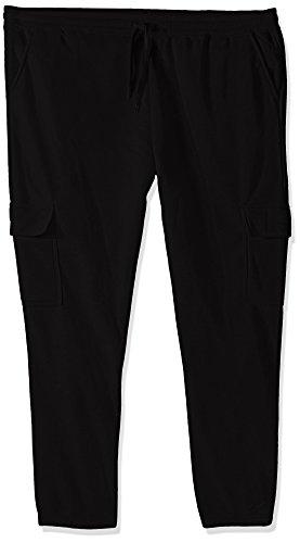 (Southpole Men's Big and Tall Active Basic Fleece Open Bottom Cargo Pants, Black, 5XB)