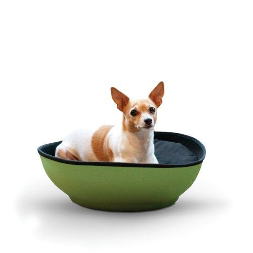 K&H Pet Products Mod Half-Pod Pet Bed 22-Inch, Green/Black (Mod Pod)