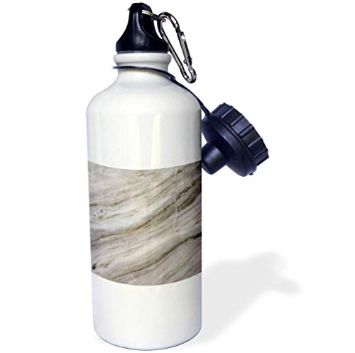 3dRose Alexis Photography - Texture Marble - Photo of Polished Marble Stone. Diagonal Stripes, Cracks - 21 oz Sports Water Bottle ()