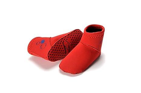 Konfidence remeros trajes de baño de la par de calcetines para ciclismo - rojo - 1