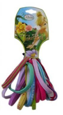 Disney Tinker Bell Tinkerbell Hair Elastic Bands Scrunchies (18pc Bundle) [Toy] by WT