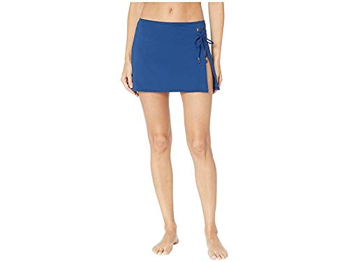 (Bleu Rod Beattie Women's Hole in One Cover-Up Skirt with Slit and Grommets Navy Medium )