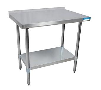 BK recursos vttr-3024 mesa de trabajo de acero inoxidable w ...
