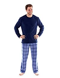 Harvey James Mens Fleece Pyjamas Top Bottoms Pajama Set