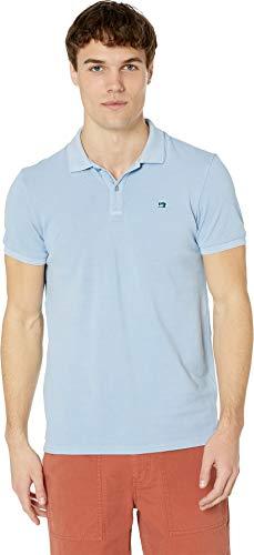 Scotch & Soda Men's Classic Garment-Dyed Pique Polo Blue Dusk XX-Large (Best Scotch And Soda)