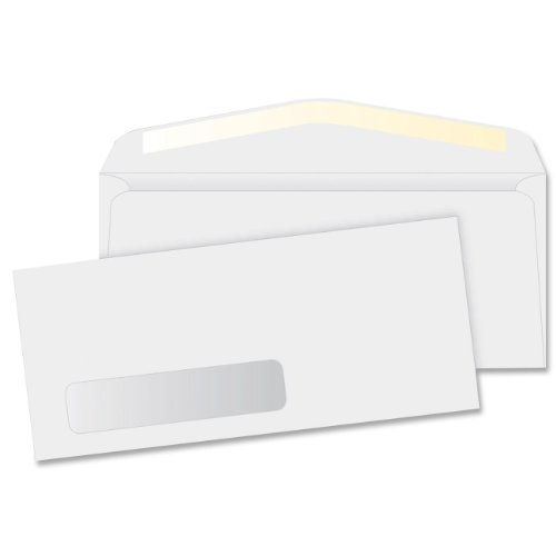 Business Source Products - Window Envelopes, No 10., Side Seam, 4-1/8