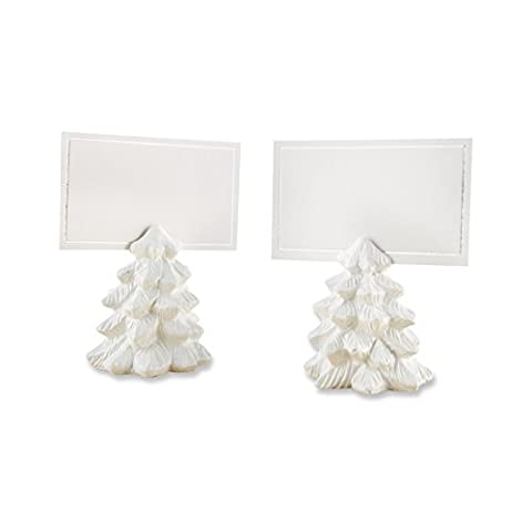 Kate Aspen Pine Tree Place Card Holders (Set of 6) Placecard, White - Tree Place Card