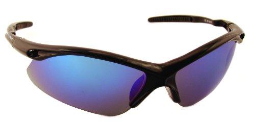 Optic Edge Semi-Rimless Frame Score Sunglasses, Black, Fire Orange - Optic Edge Sunglasses