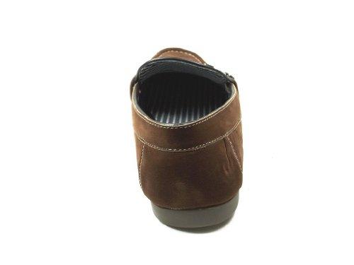 Heren L-319 Slip Op Mocassin Casual Loafer Schoenen Cognac Dk Bruin
