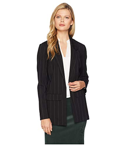 Boyfriend Blazer Pattern Knit, Black, Medium ()
