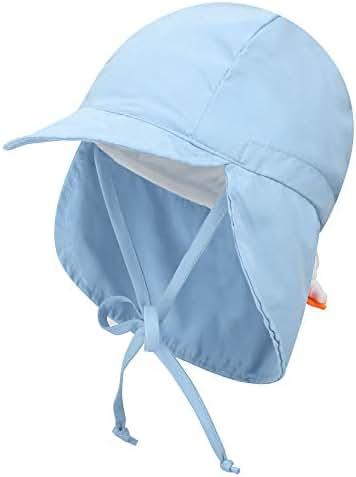 Livingston Kid's SPF 50+ UV Sun Ray Protective Safari Hat w/Neck Cover