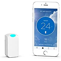 Wynd Wearable Air Quality Tracker, White Matte